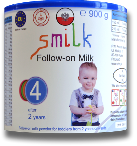 Milk for babies, infant milk powder, follow-on milk powder, smilk, smilk 4